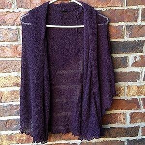 Van Klee dark purple soft knit cardigan